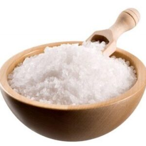 A bowl of Epsom salts as supplied by Thai Yoga Massage Hitchin