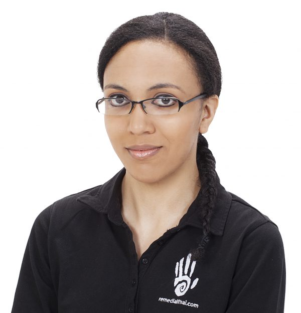 Jade Adamson, admin assistant at Thai Yoga Massage Hitchin